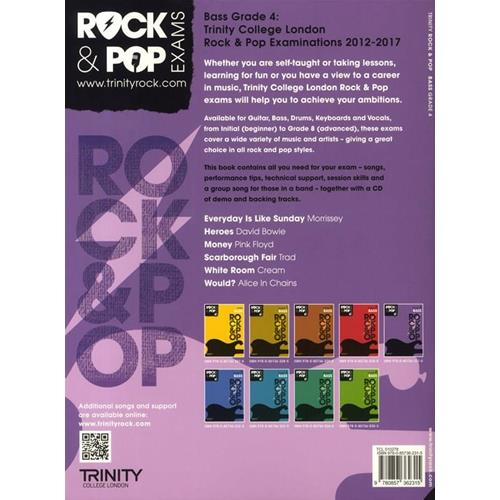AA. VV.: ROCK & POP EXAMS: BASS - GRADE 4 CON CD PLAY-ALONG TRINITY COLLEGE LONDON